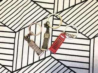 英國大笨鐘/電話亭鎖匙扣