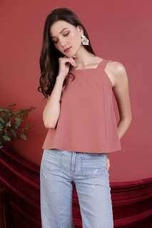 🚚 BNWT TTR Elena Thick Strap Top in Dusty Rose Size XS