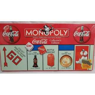 Coca Cola Monopoly Game Collector's Edition with Pewter Tokens SEALED