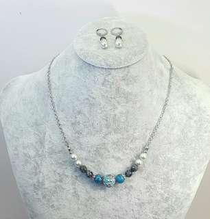 Set of Danna Beaded Necklace & Earrings