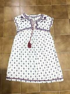 Sixty eight embroidered dress