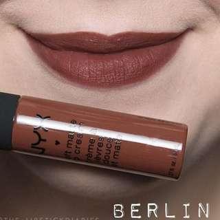 NYX Soft Matte Lip Cream New Shade Berlin #BersihBersihLaci