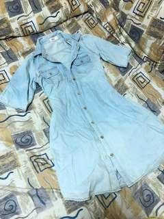 True Love Faded Denim Dress