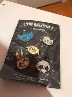 全新 龍家昇 the monsters 襟章