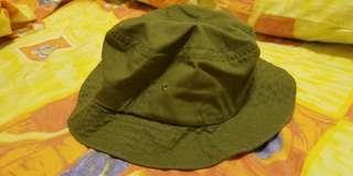 muji 綠色漁夫帽