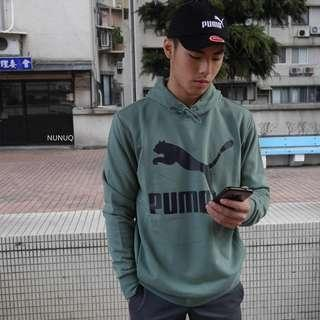 Puma 帽T 綠色 Classics Logo Hoody TR Ess 連帽 長袖 Hoodie