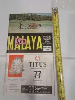 1960 See Malaya Tourist Guide .