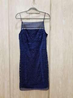 Top Shop Full Lace Blue Dress