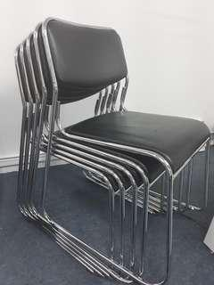 Leather Stackable Chairs