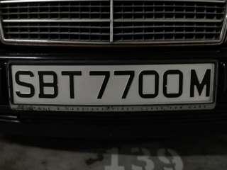 Vintage Car Plate SBT7700M