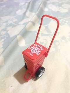 🚚 🌹近全新日本可愛扭蛋桌上小推車盒玩