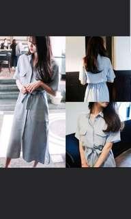 🚚 Blue buttoned dress