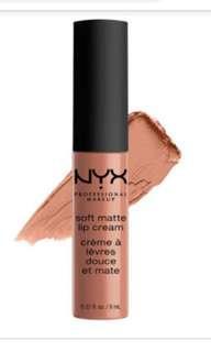 NYX Soft Matte Lip Cream: Abu Dhabi #BersihBersihLaci