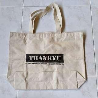Large Off-white Canvas Tote Bag