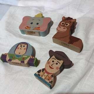 (包郵)KIDEA Disney Pixar 木製品(共四個)胡迪 巴斯 紅心 小飛象
