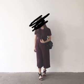 Maroon overall