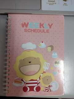 🚚 週曆 筆記本