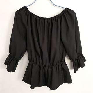 BN Black Off Shoulder Top
