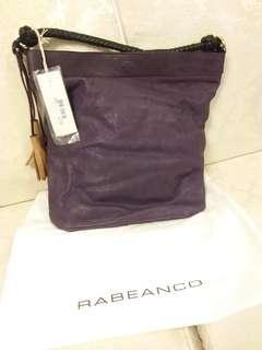 RABEANCO紫色真皮手袋, 可交換