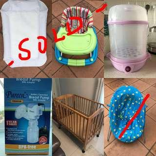 Pre-loved baby items