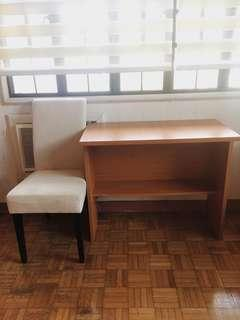 [REPRICED] Study Table with Chair