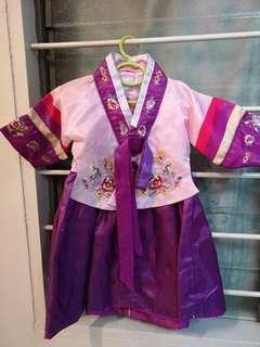 Cute baby Korean Hanbok, very details embroidery