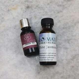 Air-O-Matic Aromatherapy White Jasmine Oil & Zensuous Green Tea Aromatic Oil #MFEB20