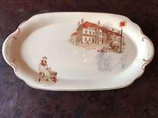 antique plate - hand painted - made in England - all original
