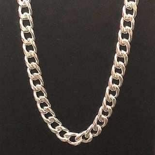 [🗣最後一條啦]990 超純銀頸鍊 silver necklace 24 inch 吋 55g 可過頭穿,重手滑身非普通貨色!