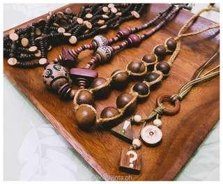 Bohemian necklaces, wooden accessories for sale