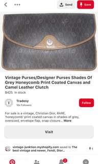 vintage dior clutch b23f449ffdcfa