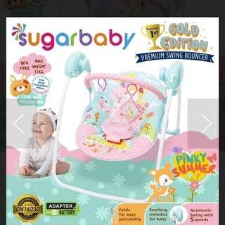 Swing Bouncer Sugar Baby Gold Edition - Pinky Summer