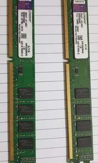 Kingston RAM DDR3 8gb (4gb + 4gb) for $30