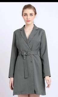 Invio Olive Dress