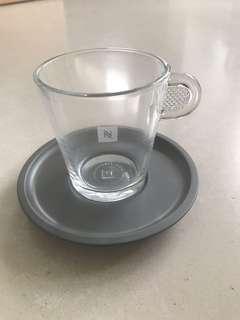 Nespresso Lungo cups & saucers x2