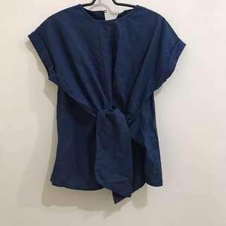 Blue Blouse Ribbon