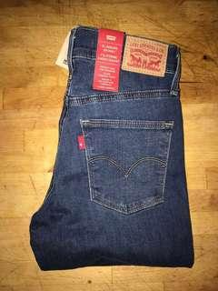 NWT Levi's Slimming Skinny High Waisted Blue Jeans