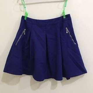 Blue Double Layer Skirt