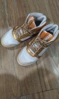 Reebok dance shoes gold