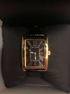 Pierre Cardin Women Rose Gold Leather Watch