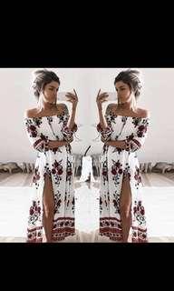 Slit dress floral