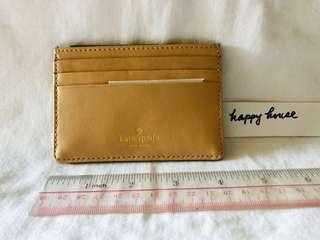 Kate Spade cardholder 啡色綠色 brown green brand new with box gift for him for her valentines day 214 February 14 girlfriend boyfriend bf gf gift love 卡片套全新有盒 情人節禮物男朋友女朋友