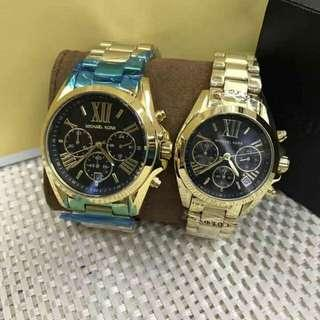 authentic mk watch couple