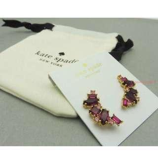 Kate Spade New York Cluster Crawler Earrings in Pink Purple