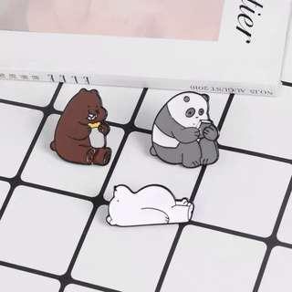🚚 We Bare Bears Enamel Pin