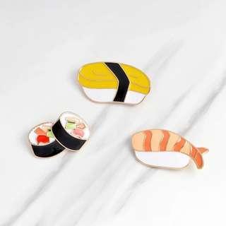 🚚 Sushi Enamel Pin Set