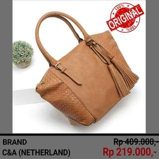 Brand C&A / Brown Colour / High Quality Luxury HandBag