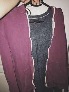 Topman zipper hoodie