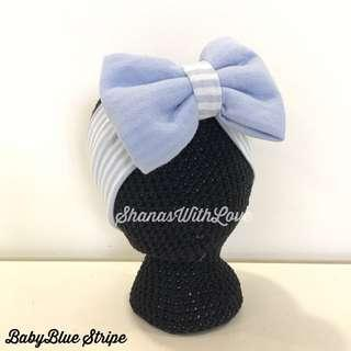 🚚 Baby/Kids Headband (BabyBlue Stripe)