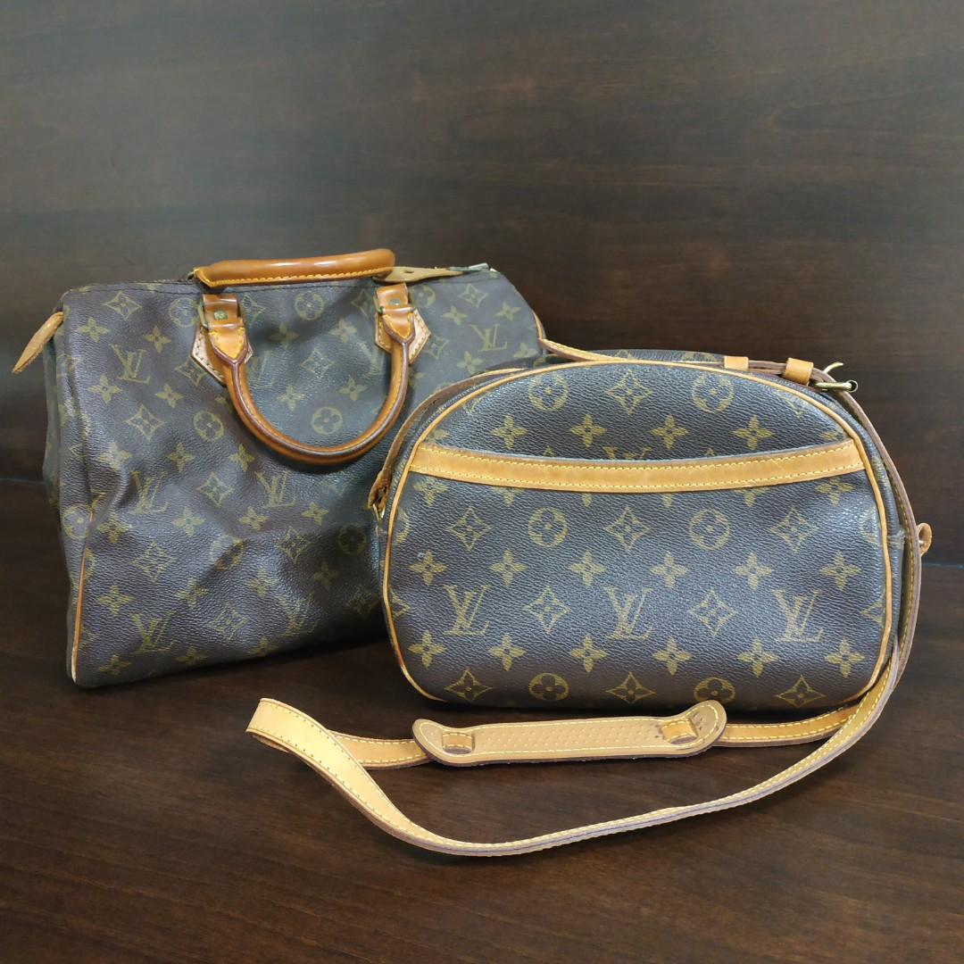 ded4b5ce6cd5 💯 Authentic Louis Vuitton Monogram Speedy 30 and Blois Crossbody ...